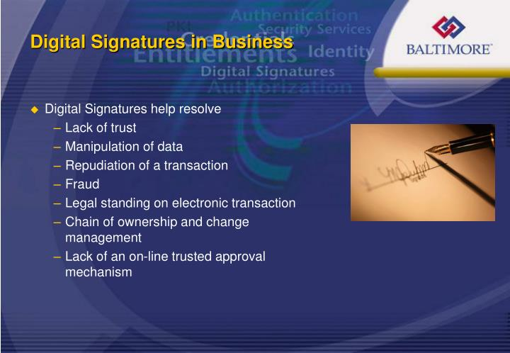 Digital Signatures help resolve