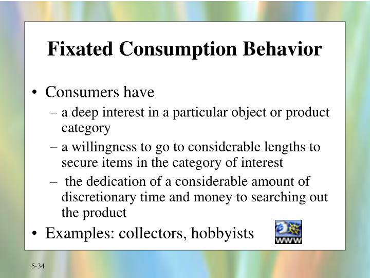 Fixated Consumption Behavior