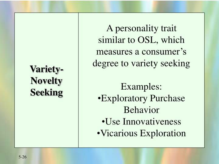 Variety-Novelty Seeking