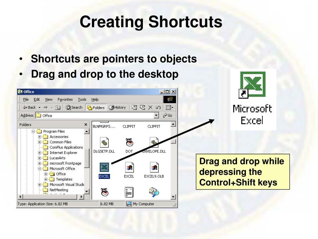 Creating Shortcuts