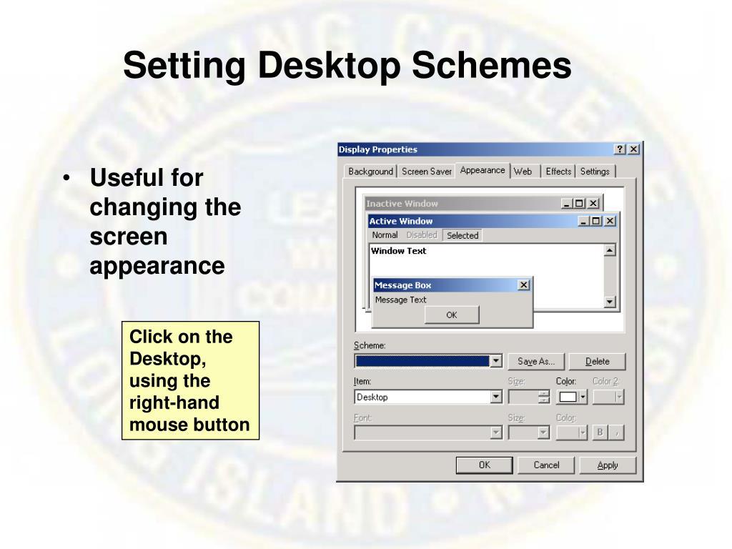 Setting Desktop Schemes