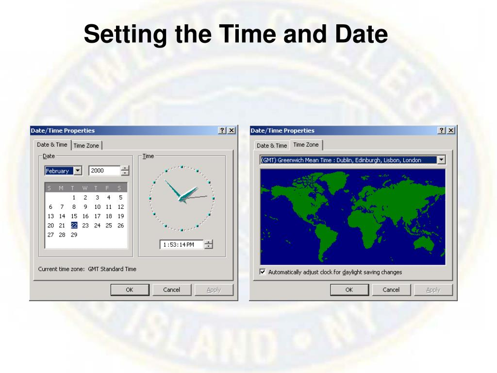 Setting the Time and Date