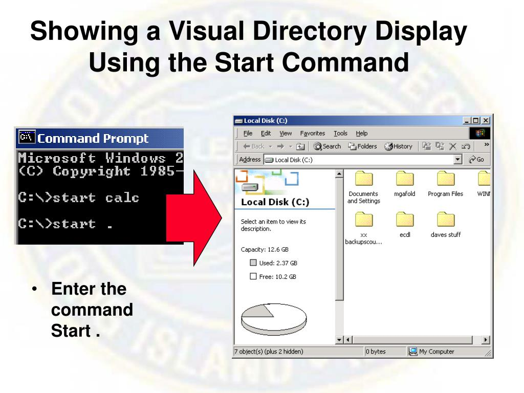 Showing a Visual Directory Display