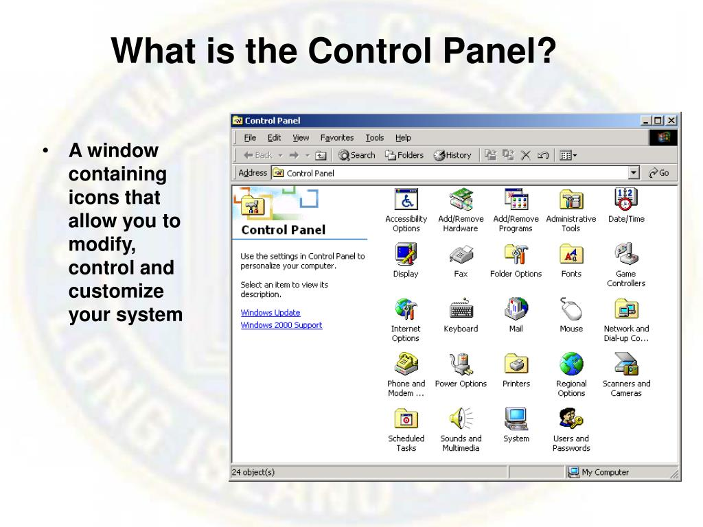What is the Control Panel?