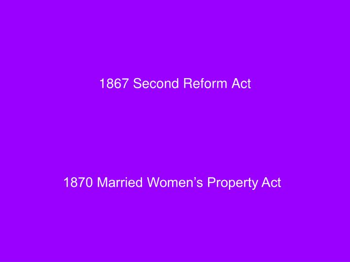 1867 Second Reform Act