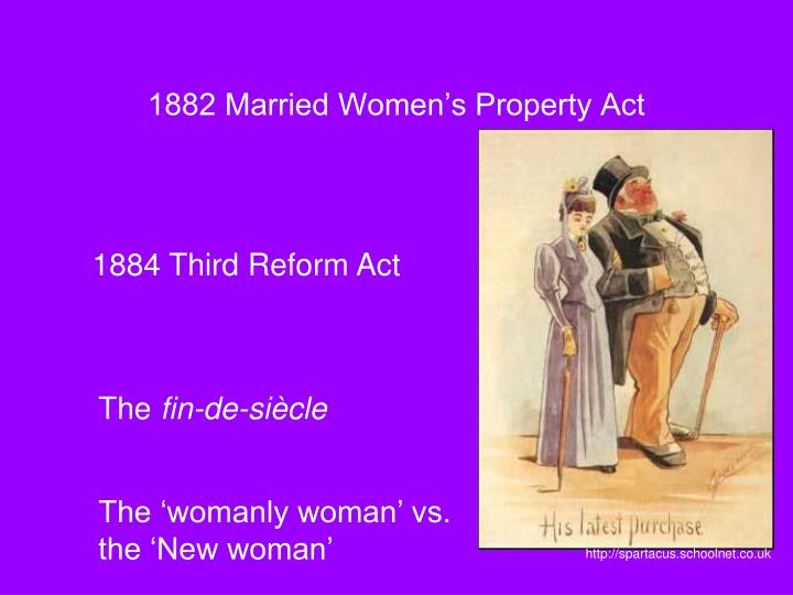 1882 Married Women's Property Act
