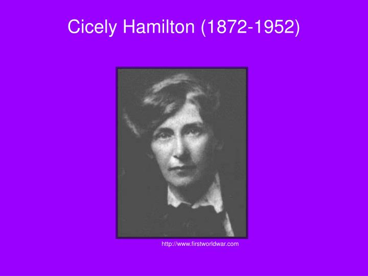 Cicely Hamilton (1872-1952)