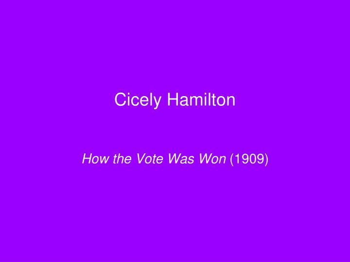 Cicely Hamilton