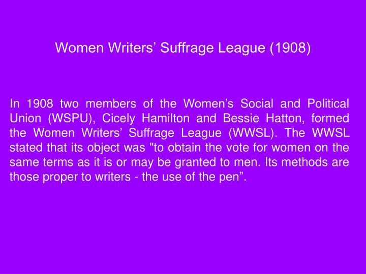 Women Writers' Suffrage League (1908)