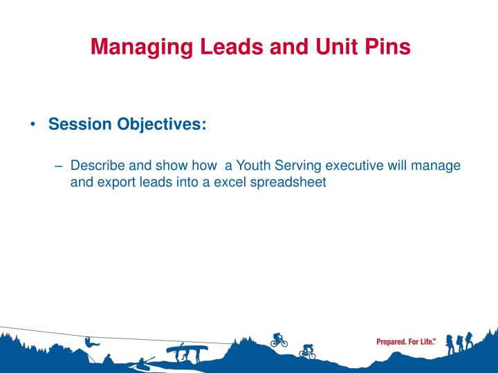Managing Leads and Unit Pins