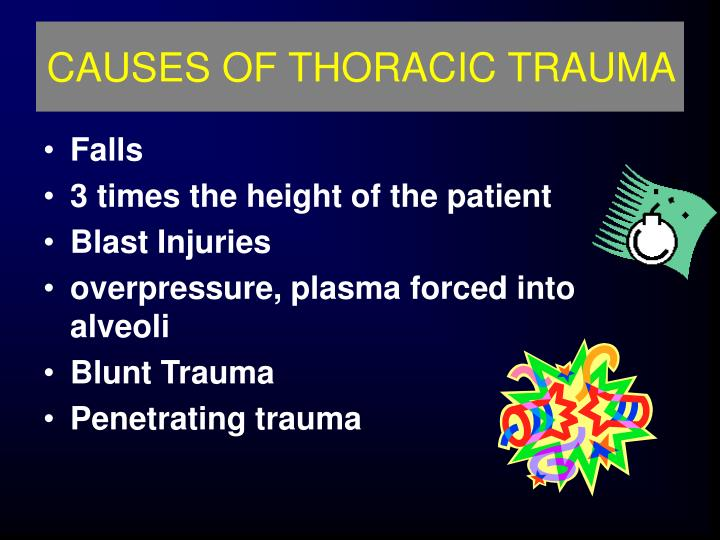 CAUSES OF THORACIC TRAUMA