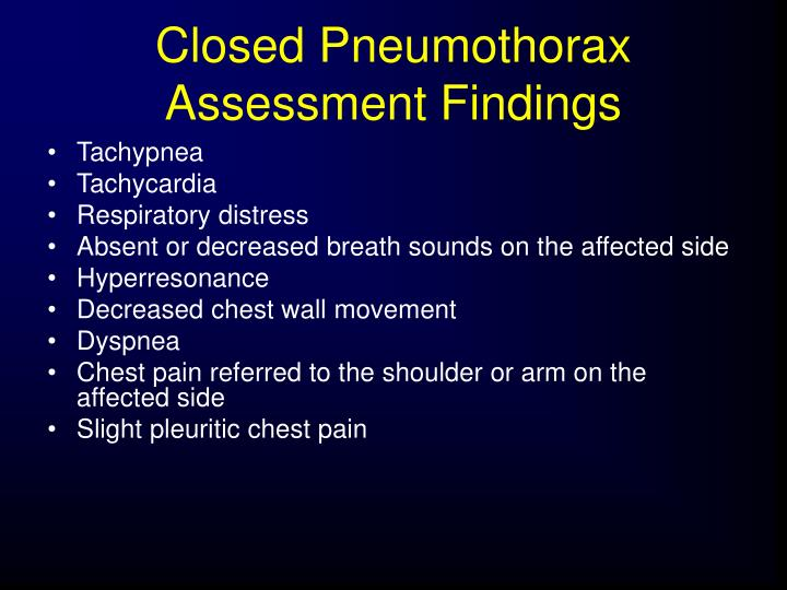 Closed Pneumothorax