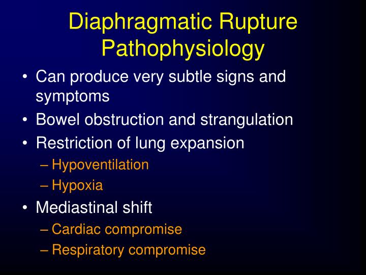 Diaphragmatic Rupture Pathophysiology