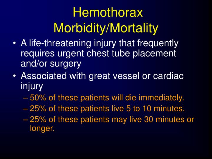 Hemothorax