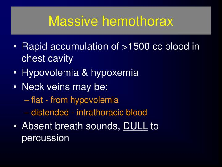 Massive hemothorax