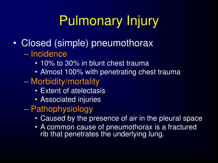 Pulmonary Injury