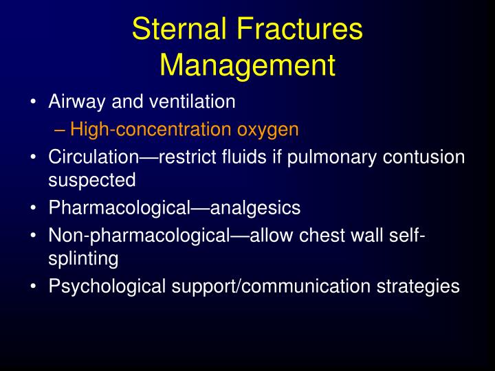 Sternal Fractures