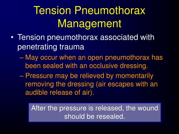 Tension Pneumothorax Management