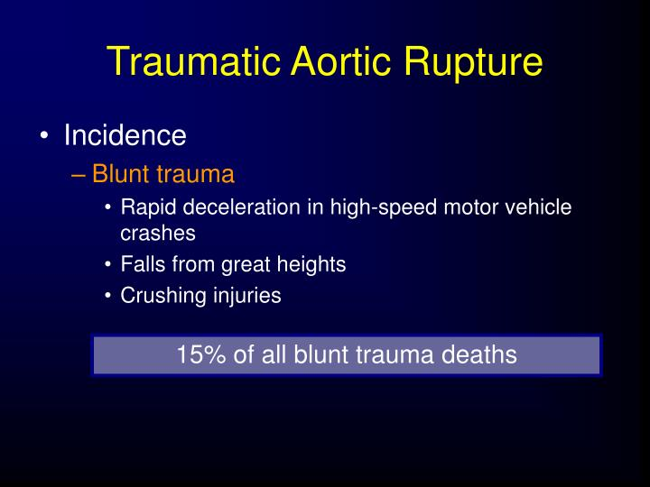 Traumatic Aortic Rupture