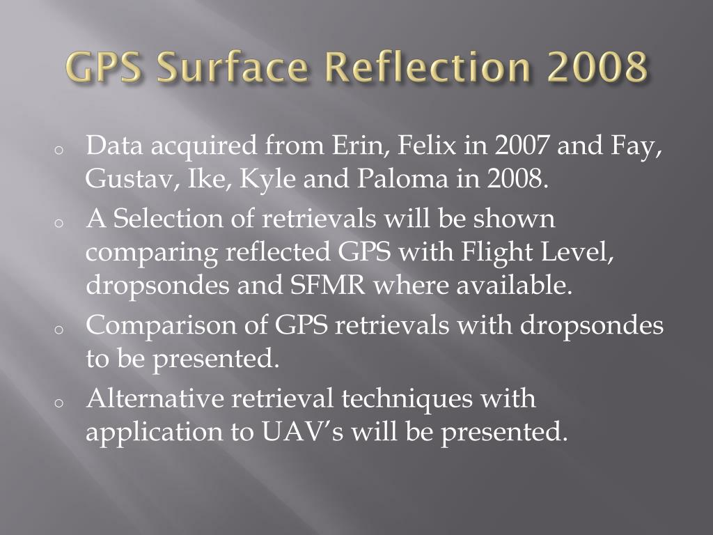 GPS Surface Reflection 2008