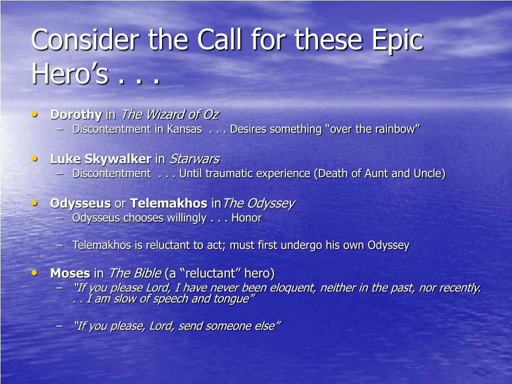 Consider the Call for these Epic Hero's . . .