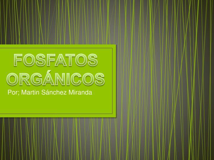 FOSFATOS ORGÁNICOS