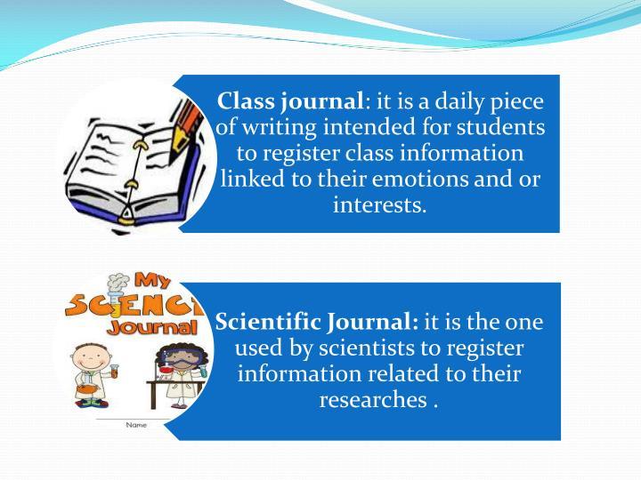Class journal