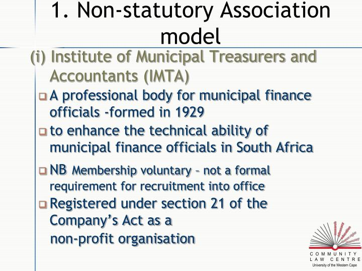 1 non statutory association model