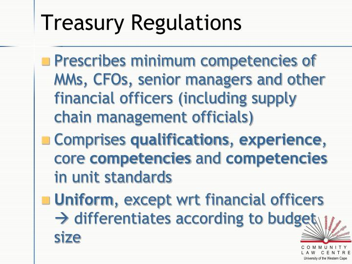 Treasury Regulations