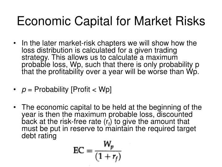 Economic Capital for Market Risks