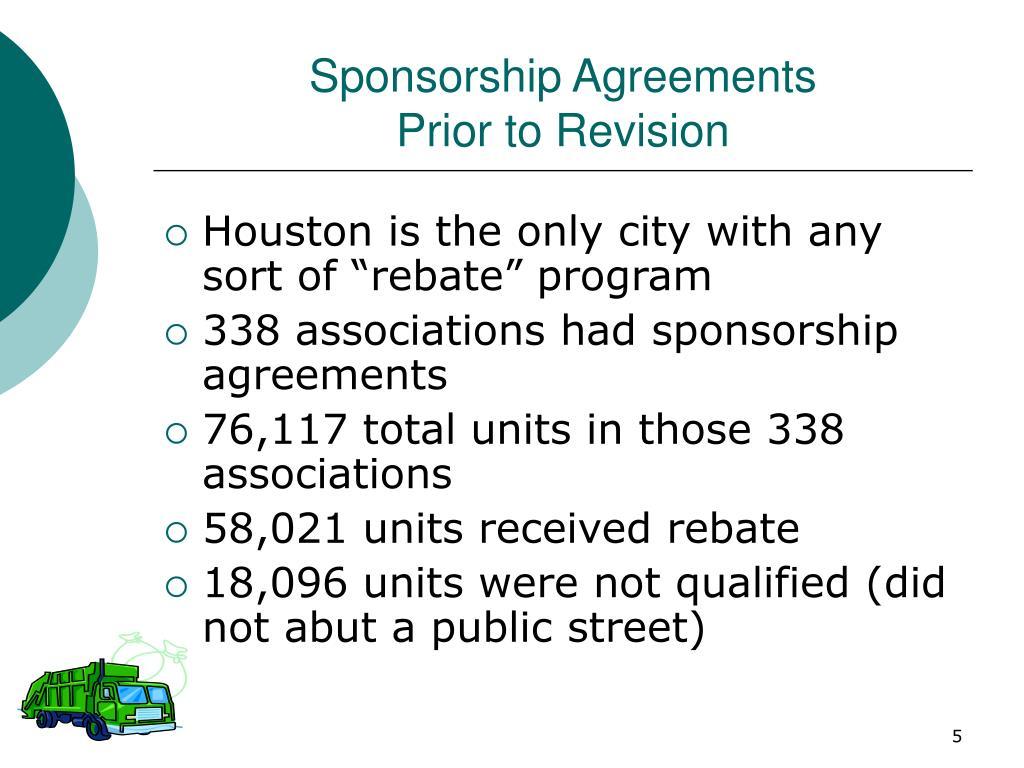 Sponsorship Agreements