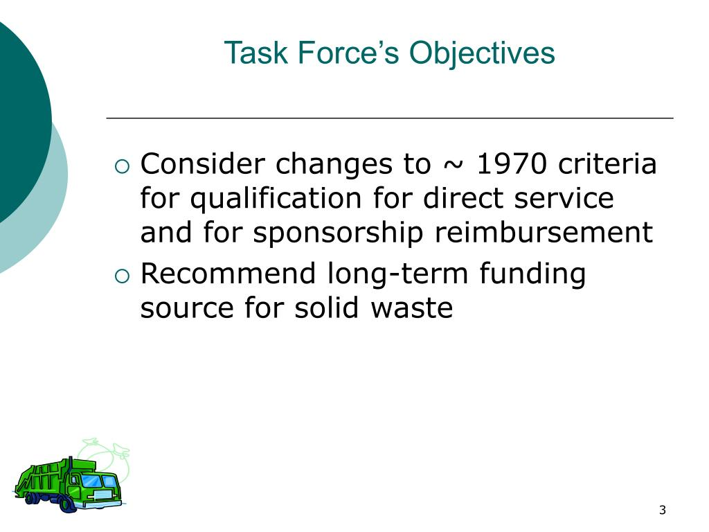 Task Force's Objectives