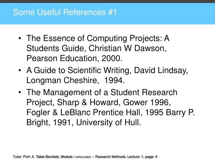 The Essence of Computing Projects: A Students Guide, Christian W Dawson,