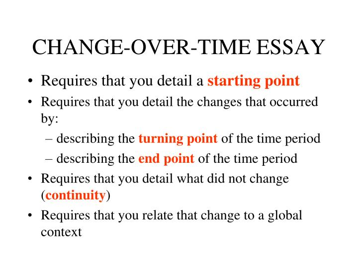CHANGE-OVER-TIME ESSAY