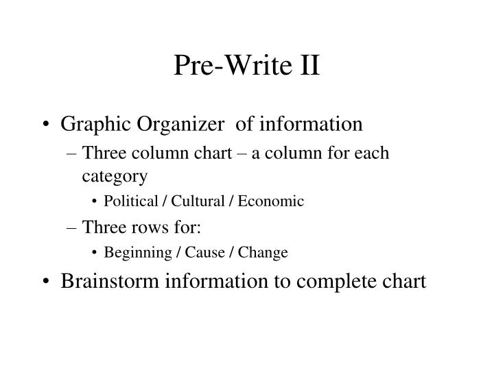 Pre-Write II