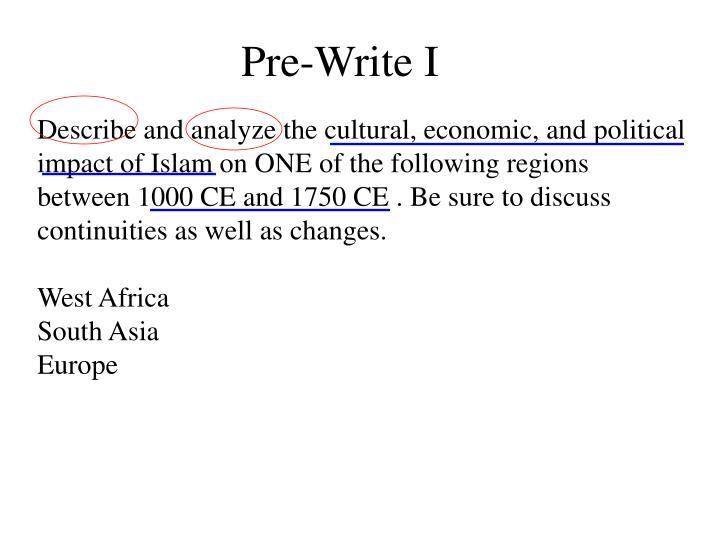 Pre-Write I