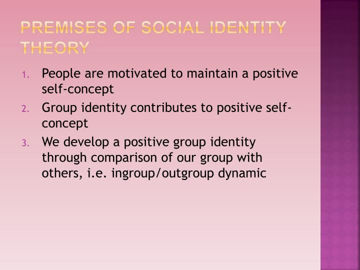 Premises of Social Identity Theory