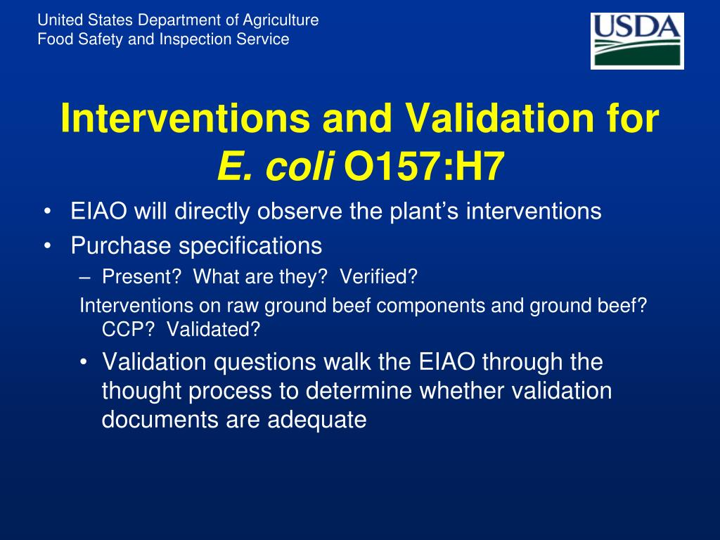 Interventions and Validation for