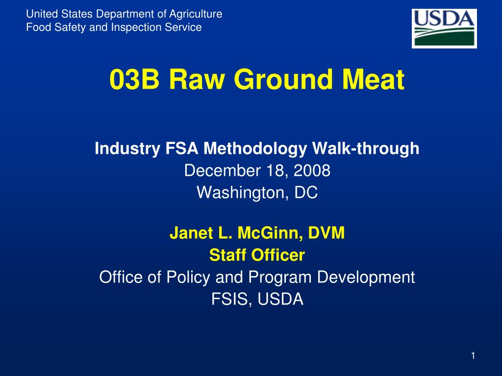 03B Raw Ground Meat