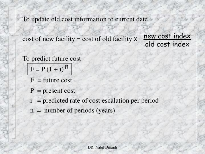 new cost index
