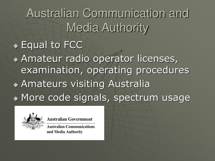 Australian Communication and Media Authority