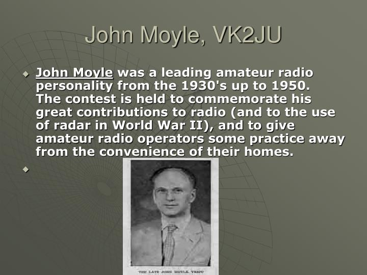 John Moyle, VK2JU