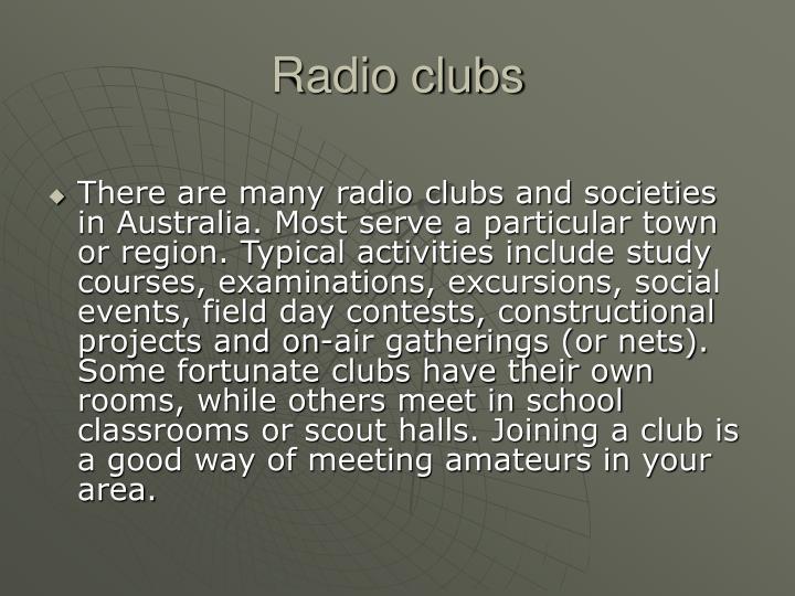 Radio clubs