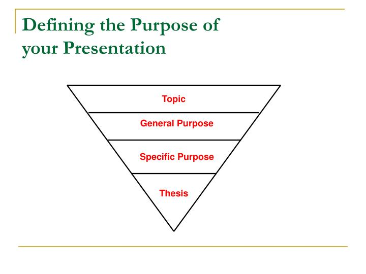 Defining the Purpose of