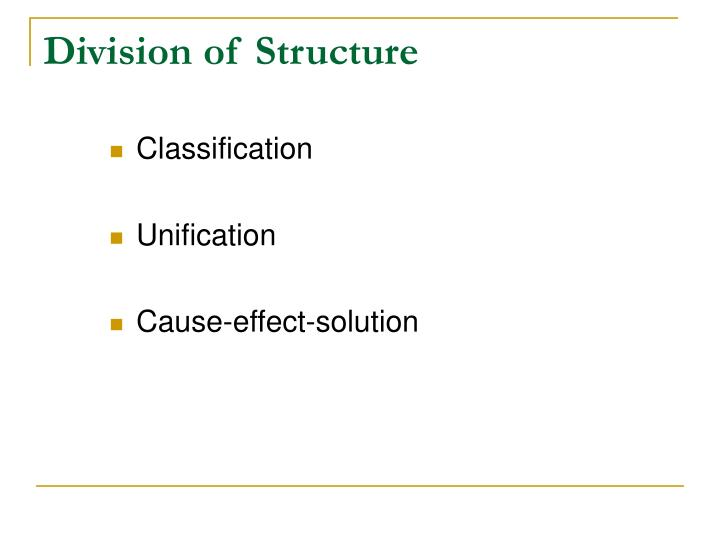 Division of Structure