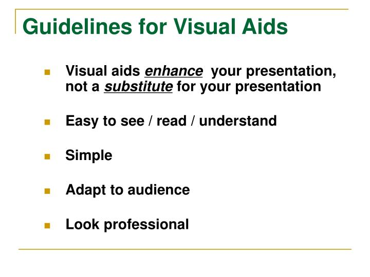 Guidelines for Visual Aids