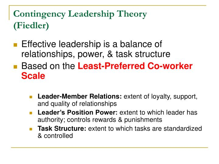 Contingency Leadership Theory
