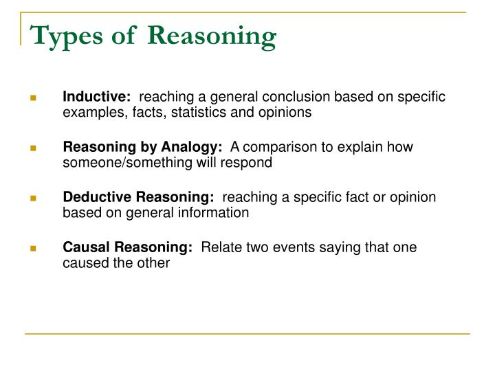 Types of Reasoning