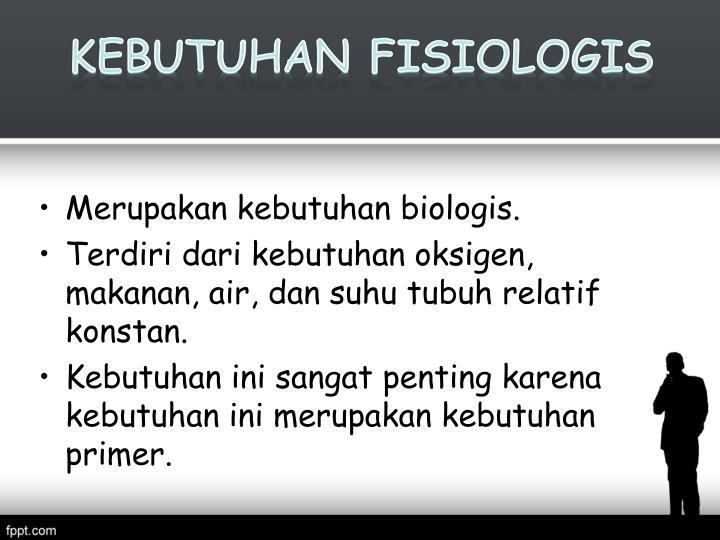 Kebutuhan Fisiologis