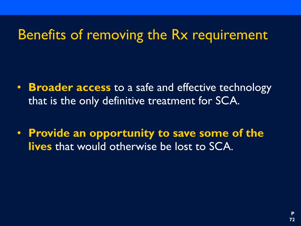 Benefits of removing the Rx requirement